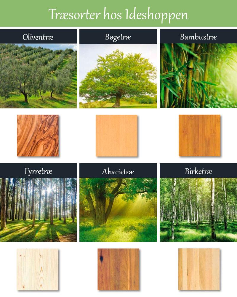 Træsorter hos Ideshoppen