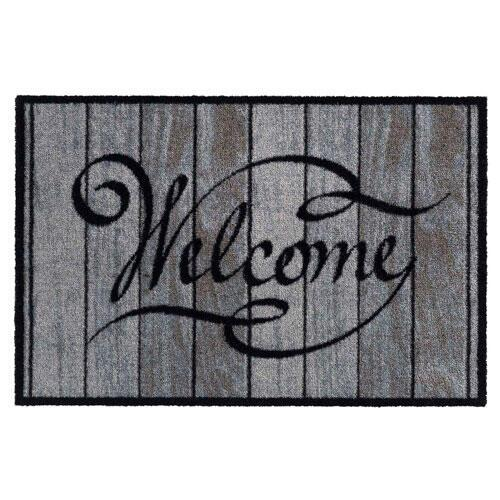Smudsmåtte Welcome Wood Classic - 50 x 75 cm.