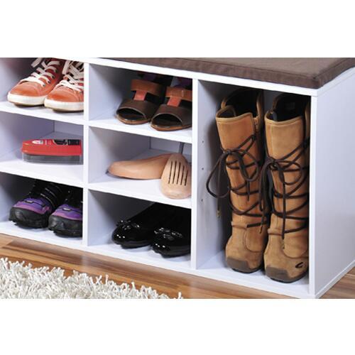 Skoreol i hvid med hynde 10 hylder for Mueble para zapatos precio